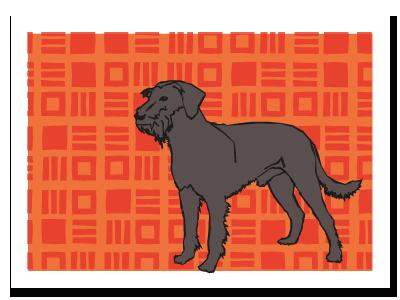 "chinese zodiac sign postcard ""Dog"""