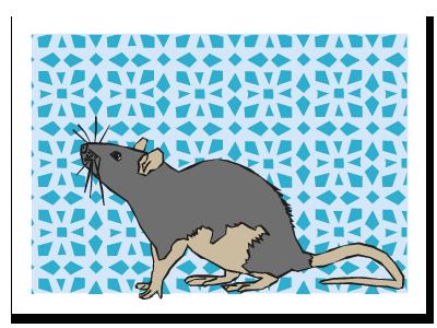 "Chinese zodiac sign postcard""Rat"""
