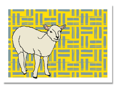 "chinese zodiac sign postcard ""Goat"""