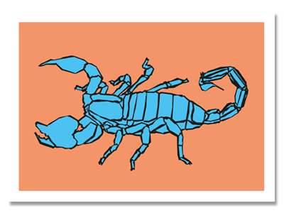 "zodiac sign postcard ""Scorpio"""