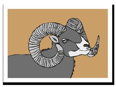"zodiac sign postcard ""Aries"""