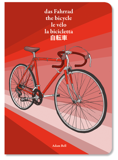 five language, illustrated dictionary on the subject of bike