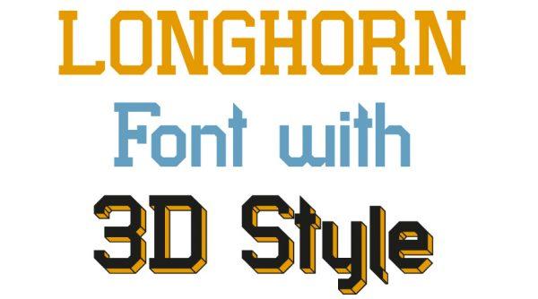 The Longhorn Font