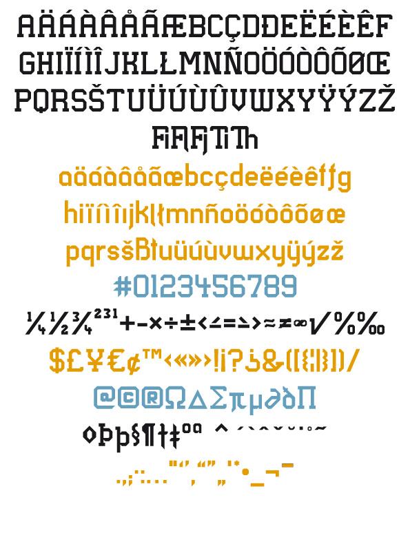 Longhorn fontsample - glyphs