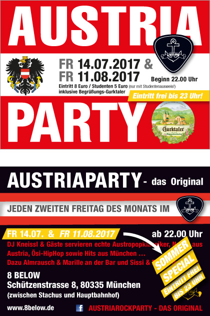 Austria Party summer special 2017 at 8below