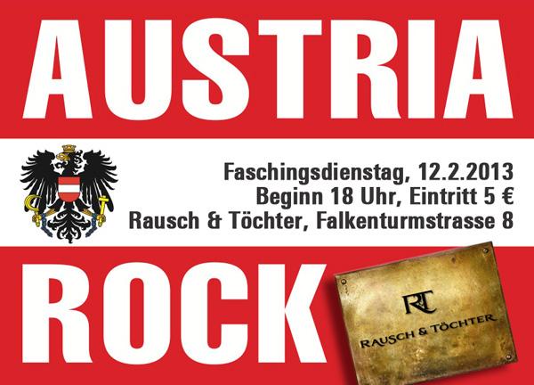 Austria Rock @ Rausch&Töchter Flyer