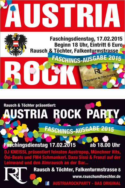 Austria Rock Carneval Special 2015 @ Rausch&Töchter