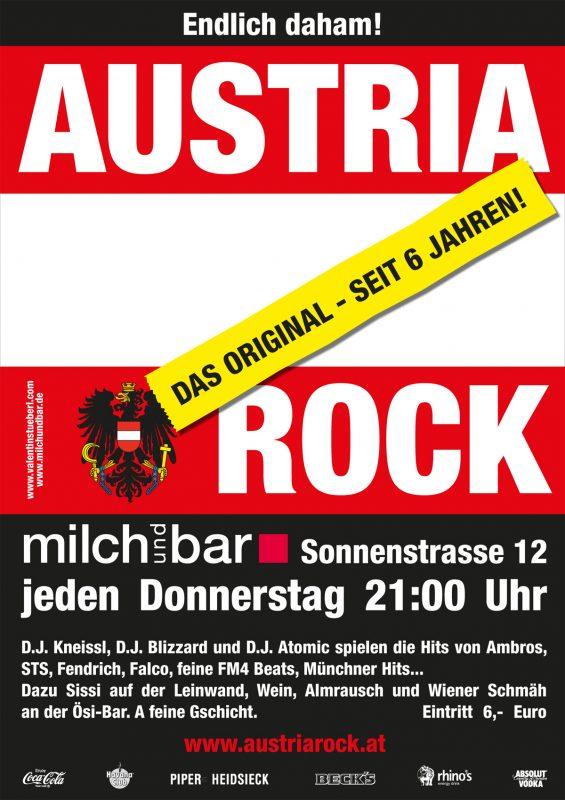Austria Rock @ Milchbar Poster
